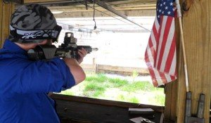 Shooting an AR-15 Assault Rifle